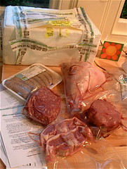 Organic meat box