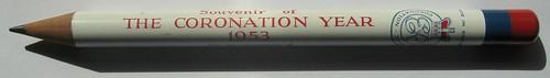 1953 Coronation Pencil - Souvenir of THE CORONATION YEAR 1953