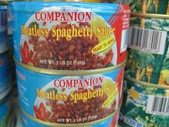 Companion Meatless Spaghetti Sauce