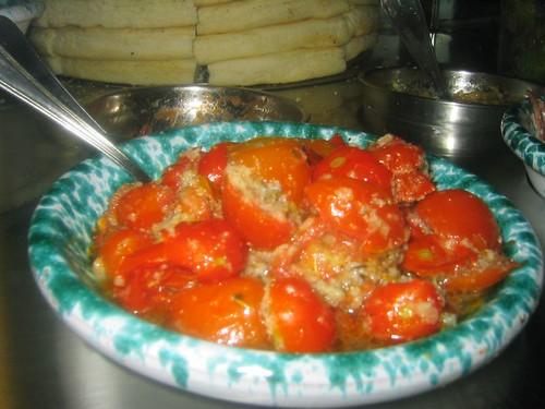 Focaccia Fixins: Stuffed Tomatoes
