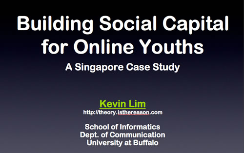 Building Social Capital for Online Youths
