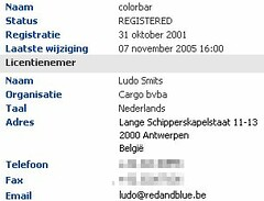 Colorbar: belgian spam