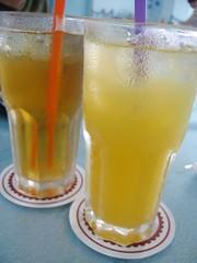 冰綠茶和果汁