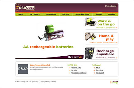 usbcell rechargable aa usb battery