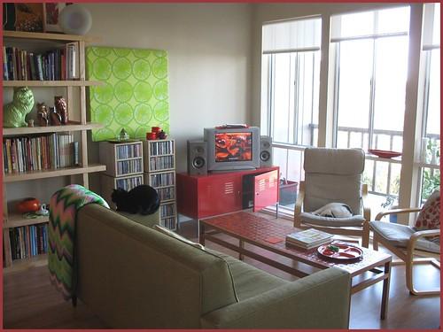 living room looking toward windows/porch