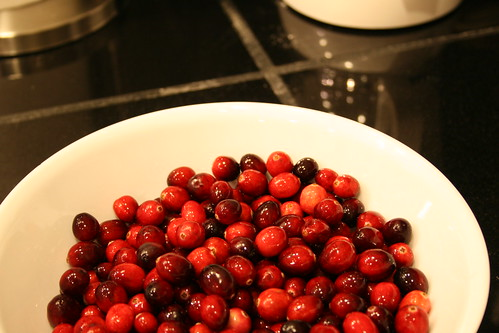 i began cooking already...first up? cranberries