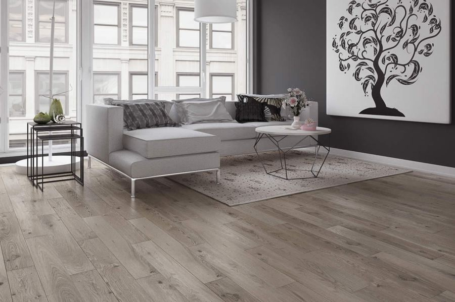 Grey Engineered Flooring   FlooringSupplies co uk Barlinek Oak St Kitts