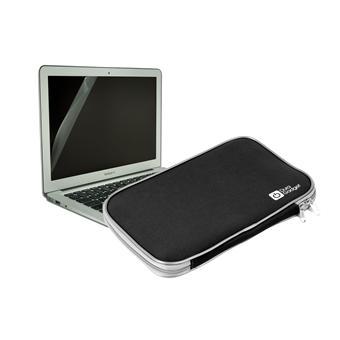 housse etui de protection neoprene noir pour macbook pro 13 pouces duragadget