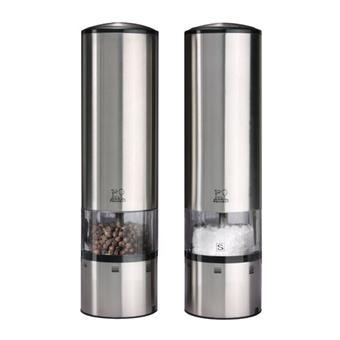 peugeot duo de moulins a poivre et a sel electiques en inox u select 20 cm