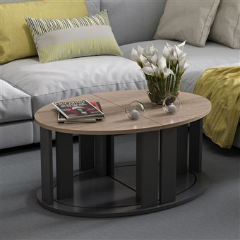 table basse modulable design antella l 90 x h 41 cm noir