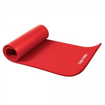 tapis en mousse petit 190x60x1 5cm yoga pilates sport a domicle rouge