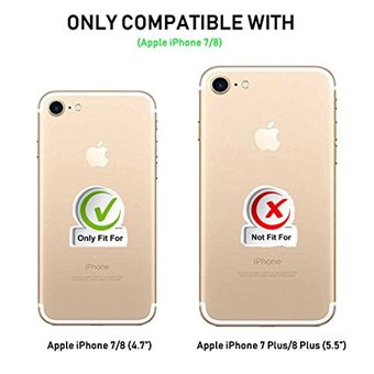 coque iphone 7 coque iphone 8 supad etui a rabat protecteur en cuir veritable pour iphone 7 8 4 7 or rose