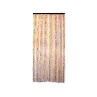rideau de porte en bambou et perle de bois jardideco