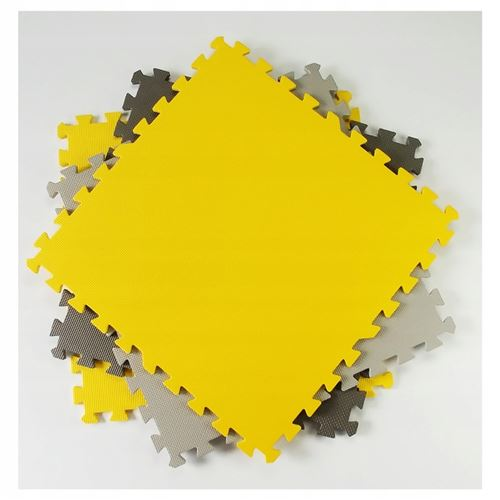 mila tapis d eveil puzzle 9 elements 180x180cm bebe tapis de jeu dalles sensorielles en mousse non toxique eva 30x30 cm jaune