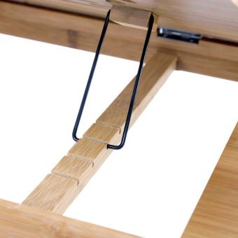 plateau de lit pliable table portable pour ordinateur bureau reglable avec trous d aeration materiau bambou