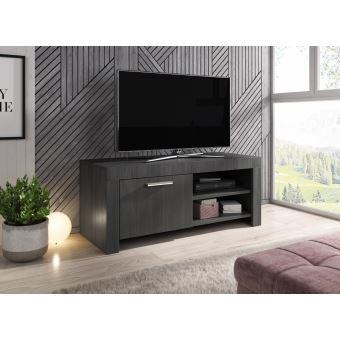 120 cm chene blanc meuble tv armoire