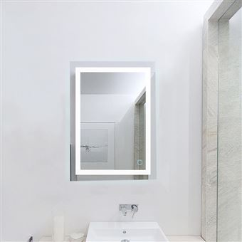 Miroir Lumineux Led Salle De Bain 22w Lampe De Miroir Eclairage Etanche 60 80cm Blanc Froid 6500k Achat Prix Fnac
