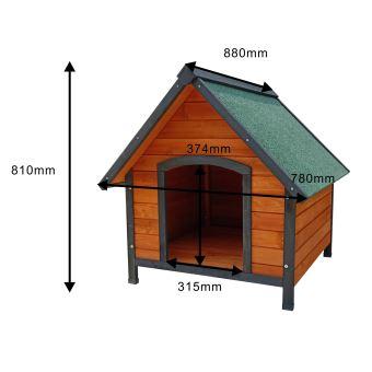 niche pour chien gardiun miracle 88x78x81 cm a 2 pans chien de taille moyenne