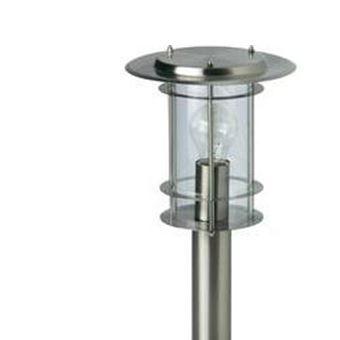 lampadaire exterieur brilliant york 60 w acier inoxydable 40 cm