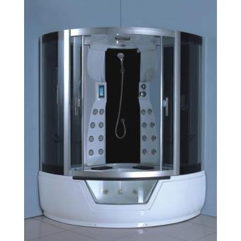 baignoire douche balneo massante angle haute spa montecarlo 150 x 150 cm installations salles de bain achat prix fnac