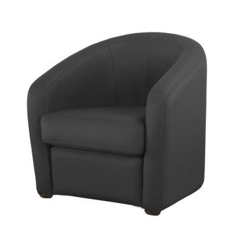 fauteuil cabriolet en cuir avec coussin