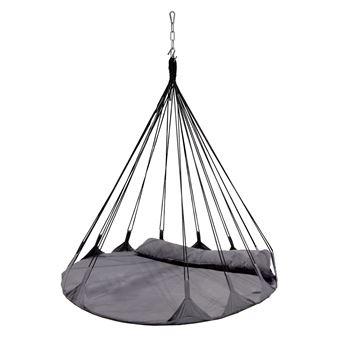 fauteuil lit suspendu design typi diam 140 x h 135 cm gris ardoise