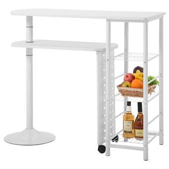 table haute de bar josua blanc mat