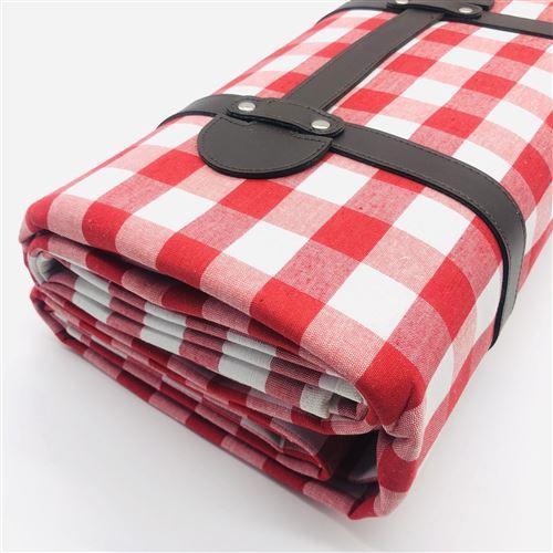 couverture picnic impermeable nappe picnic resiste a l humidite tapis pique niques exterieur en carreaux vichy rouge