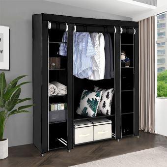 armoire rangement chambre penderie pas cher multimode rangement meuble en tissu 172 134 43cm