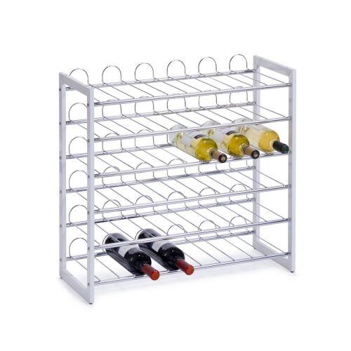 zeller 27360 casier a bouteille metal argent 73 x 32 x 11 cm