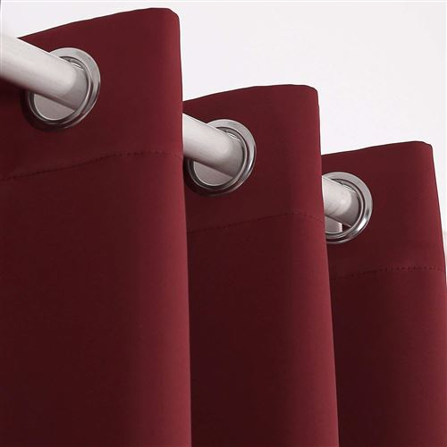 deconovo rideau occultant a oeillets 140x180cm isolant thermique curtains for kids rouge