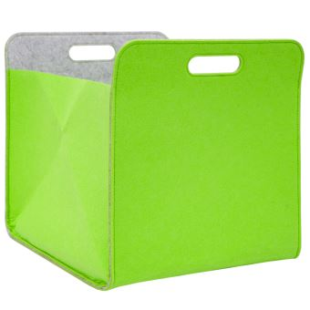 boite de rangement feutre 33x33x38 cm kallax panier feutrine etagere ikea vert