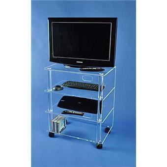 form xl meuble tv hifi sur roulettes