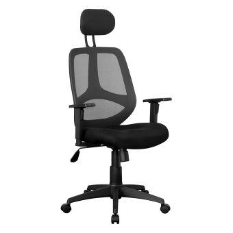 amstyle florence executive chaise de bureau pivotante noir tissu maille achat prix fnac