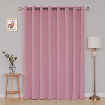 deconovo rideau occultant a oeillets isolant thermique rideau tissu rose pour enfant fille chambre occultant rideau grande largeur 254x213cm