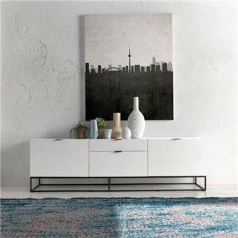 nouvomeuble meuble tv design blanc laque emilia