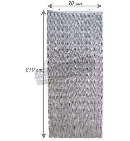 rideau chainette d aluminium anodisee