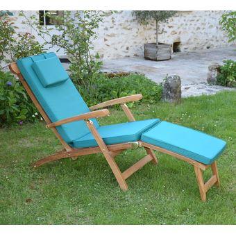 matelas vert pour chaise longue