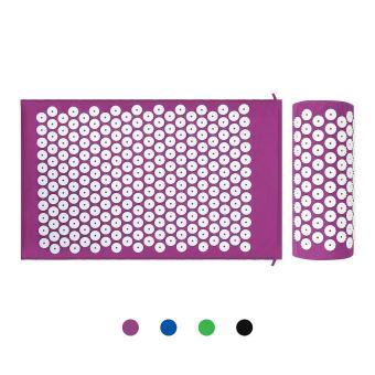 leogreen kit d acupression avec tapis et coussin matelas de relaxation violet avec sac et coussin standards certifications rohs