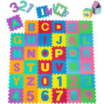 tectake tapis puzzle tapis de jeux 86 pieces en mousse