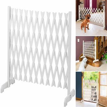 Barriere Extensible Blanche Treillis Pvc 35 A 250 Cm Decoration D Exterieur Achat Prix Fnac