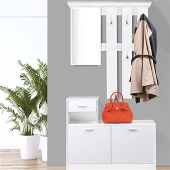 miroir design blanc portes blanches