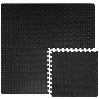eyepower set 4 pieces tapis puzzle de fitness protection sol de sport en eva epais 20mm extensible r