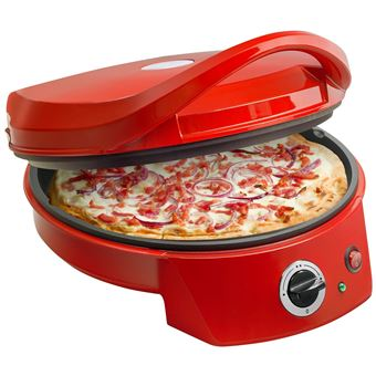 Photo de four-a-pizza-bestron-apz400-rouge