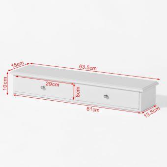 sobuy frg43 w meuble d entree de rangement etagere murale 2 tiroirs