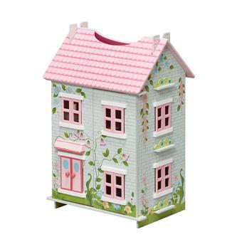 teamson kids maison de poupees en bois de cottage de conte de fees pour les poupees maison de poupee achat prix fnac