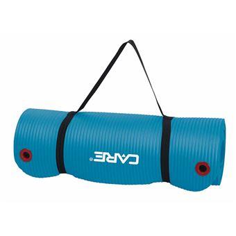 care fitness tapis d exercice 183 x 61 cm 1 5 cm bleu