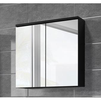 Meuble A Miroir 60x59 Cm Toledo Noir Miroir Armoire Miroir Salle De Bains Verre Armoire De Rangement Installations Salles De Bain Achat Prix Fnac
