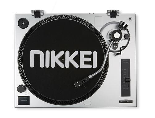 platine vinyle nikkei ntt15u moteur a entrainement direct sortie usb element audio technica integre et tapis antiderapant en caoutchouc et tissu