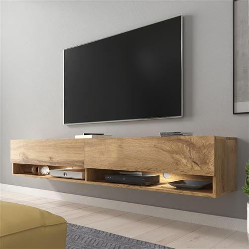 180 cm meuble tv suspendu banc tv